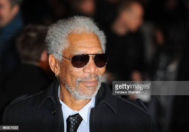 Morgan Freeman attends the UK Film Premiere of 'Invictus' at Odeon West End on January 31 2010 in London England