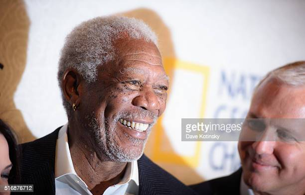 Morgan Freeman attends the world premiere of National Geographic's 'The Story Of God' with Morgan Freeman at Jazz at Lincoln Center on March 21 2016...