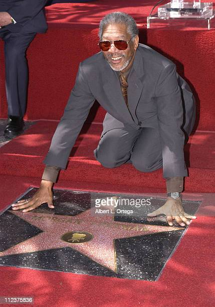 Morgan Freeman during Morgan Freeman Honored With A Star On The Hollywood Walk Of Fame at Hollywood Blvd in front of The Galaxy Theater in Hollywood...