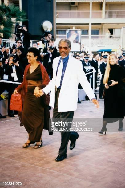 Morgan Freeman et son épouse Myrna le 19 mai 1998 à Cannes, France.