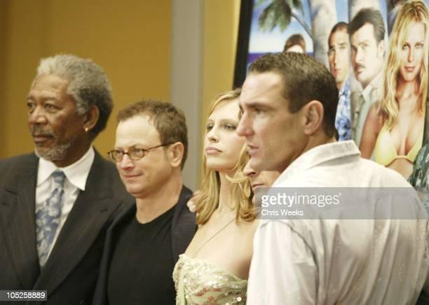 Morgan Freeman Gary Sinise Sara Foster Charlie Sheen and Vinnie Jones