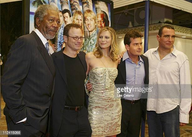 Morgan Freeman, Gary Sinise, Sara Foster, Charlie Sheen and Vinnie Jones