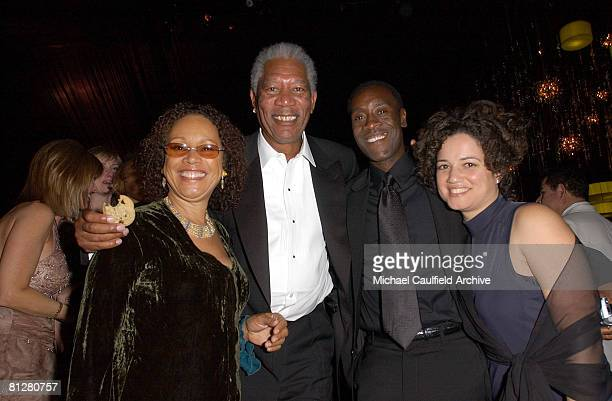 Morgan Freeman guest Don Cheadle and wife