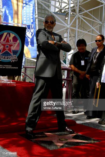 Morgan Freeman Honored With A Star On The Hollywood Walk Of Fame Hollywood CA 03/18/03