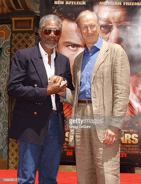 Morgan Freeman James Cromwell during Morgan Freeman Footprint Ceremony at Mann's Chinese Theatre in Hollywood California United States