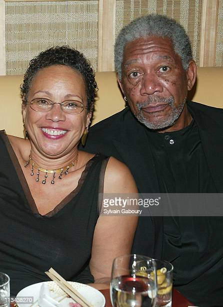 """Morgan Freeman, Myrna Colley-Lee during Afterparty for the Miramax film """"An Unfinished Life"""" at Megu in New York, New York, United States."""