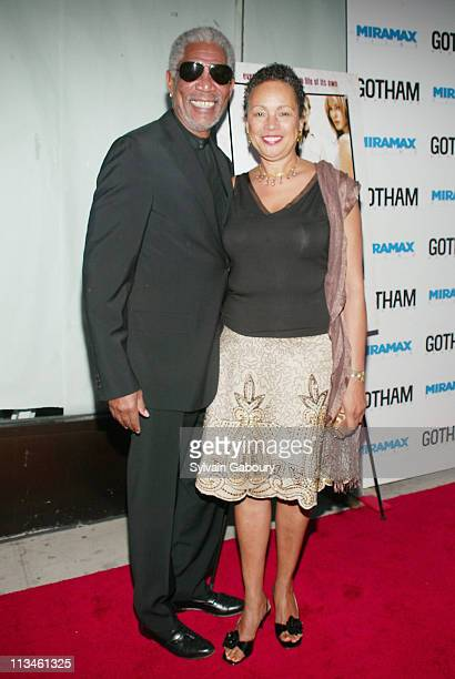 """Morgan Freeman, Myrna Colley-Lee during Miramax premiere of """"An Unfinished Life"""" at Directors Guild of America in New York, New York, United States."""