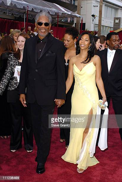 """Morgan Freeman, nominee Best Actor in a Supporting Role for """"Million Dollar Baby"""" and Myrna Colley-Lee"""