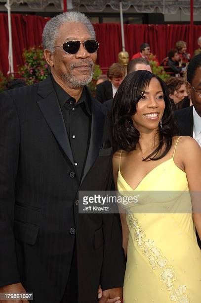 Morgan Freeman nominee Best Actor in a Supporting Role for Million Dollar Baby and daughter Morgana