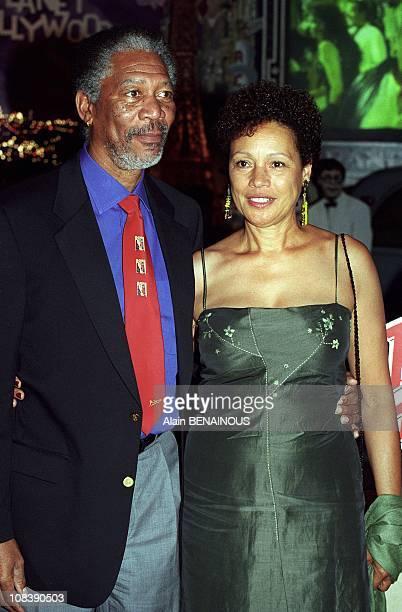 Morgan Freeman Presents 'Nurse Betty' in Paris, France on August 29, 2000.