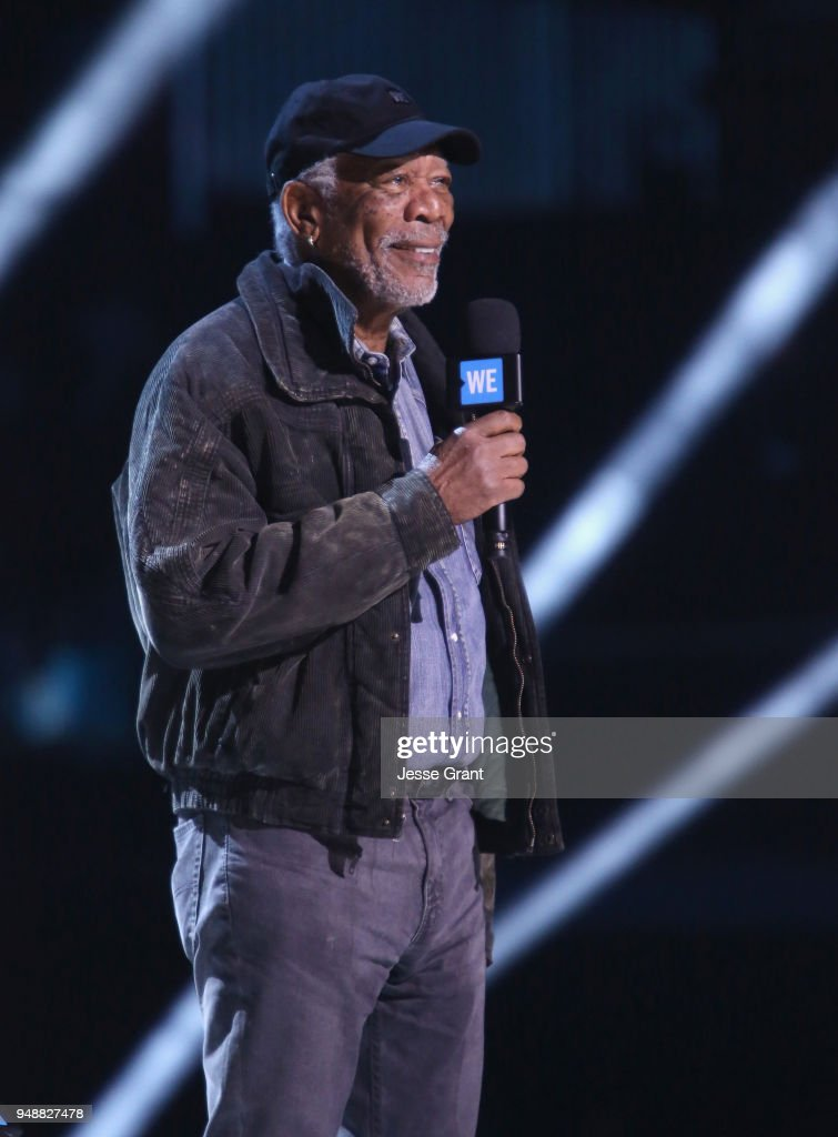 Morgan Freeman speaks onstage at WE Day California at The Forum on April 19, 2018 in Inglewood, California.
