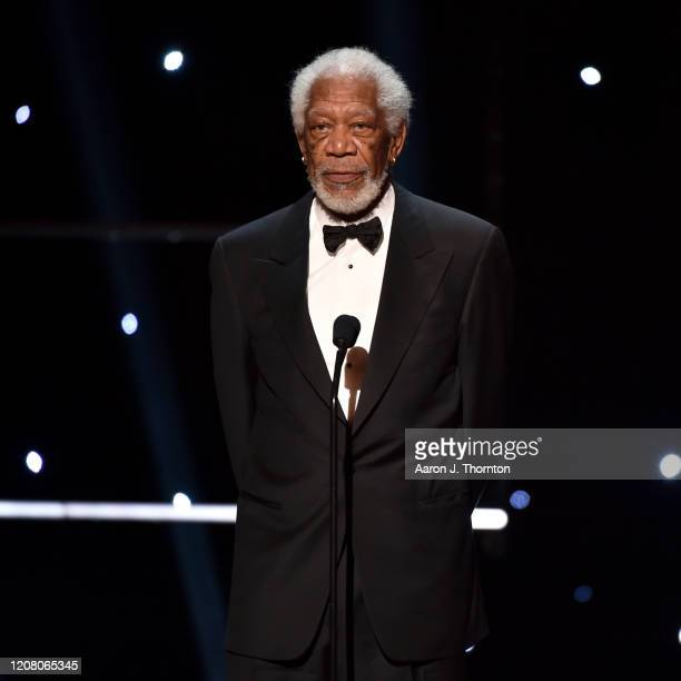 Morgan Freeman speaks onstage during the 51st NAACP Image Awards Presented by BET at Pasadena Civic Auditorium on February 22 2020 in Pasadena...