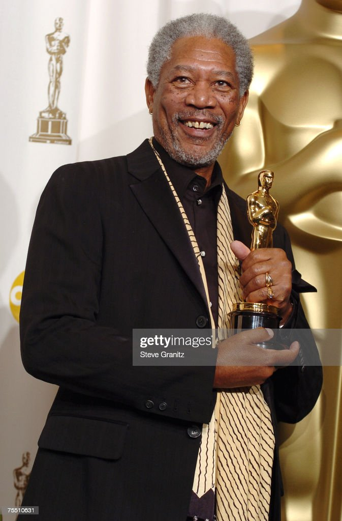 Morgan Freeman, winner Best Actor in a Supporting Role for ?Million Dollar Baby? at the Kodak Theatre in Hollywood, California