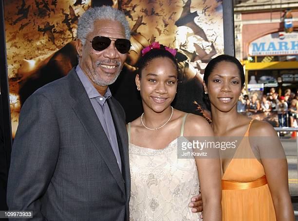 Morgan Freeman with granddaughter Alexis and daughter Morgana Freeman