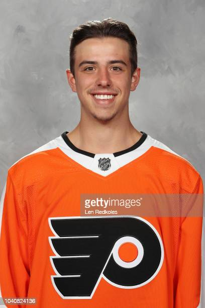 Morgan Frost of the Philadelphia Flyers poses for his official headshot for the 20182019 season on June 28 2018 at the Virtua Flyers Skate Zone in...