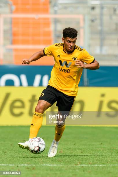 Morgan GibbsWhite of Wolverhampton Wanderers controls the ball during the HHotels Cup match between Real Betis Sevilla and Wolverhampton Wanderers FC...