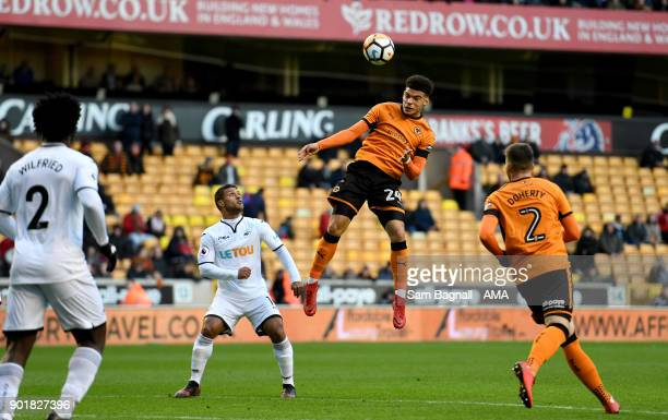 Morgan GibbsWhite of Wolverhampton Wanderers during The Emirates FA Cup Third Round match between Wolverhampton Wanderers and Swansea City at...