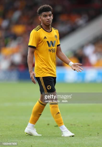 Morgan GibbsWhite of Wolverhampton Wanderers during the Pre Season Friendly between Wolverhampton Wanderers and Ajax at Banks' Stadium on July 19...