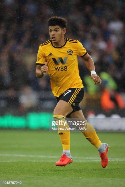 Morgan GibbsWhite of Wolverhampton Wanderers during the Premier League match between Wolverhampton Wanderers and Everton FC at Molineux on August 11...
