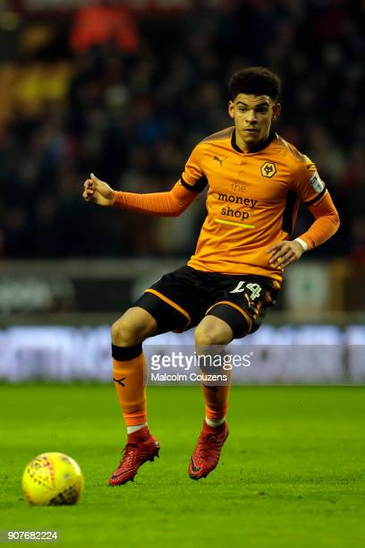 Morgan GibbsWhite of Wolverhampton Wanderers during the Sky Bet Championship match between Wolverhampton and Nottingham Forest at Molineux on January...