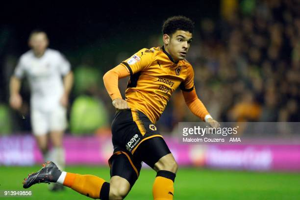 Morgan GibbsWhite of Wolverhampton Wanderers during the Sky Bet Championship match between Wolverhampton and Sheffield United at Molineux on February...