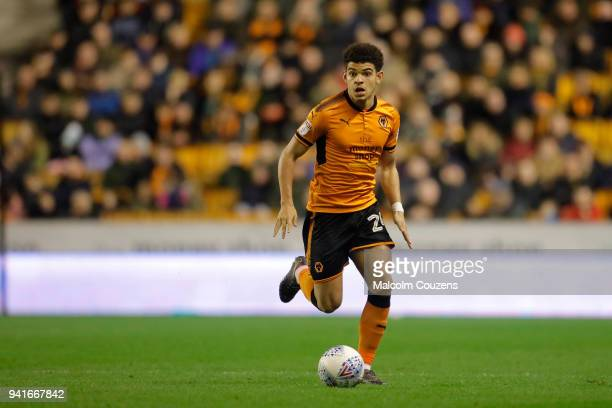Morgan GibbsWhite of Wolverhampton Wanderers during the Sky Bet Championship match between Wolverhampton Wanderers and Hull City at Molineux on April...