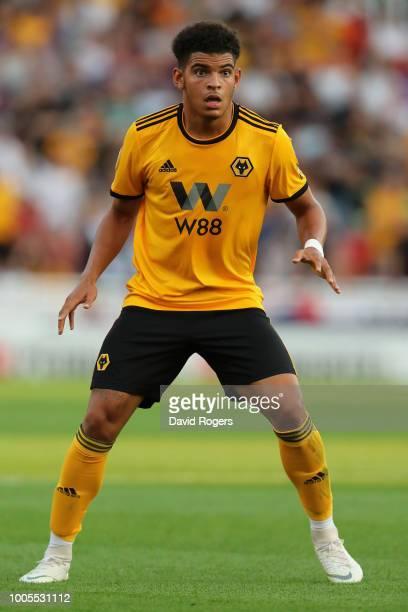 Morgan GibbsWhite of Wolverhampton Wanderers looks on during the preseason friendly match between Stoke City and Wolverhampton Wanderers at the...