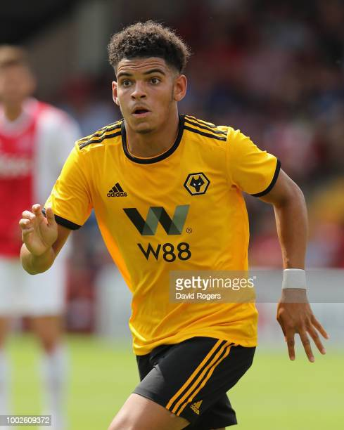 Morgan GibbsWhite of Wolverhampton Wanderers looks on during the pre seaon friendly match between Wolverhampton Wanderers and Ajax at the Banks'...