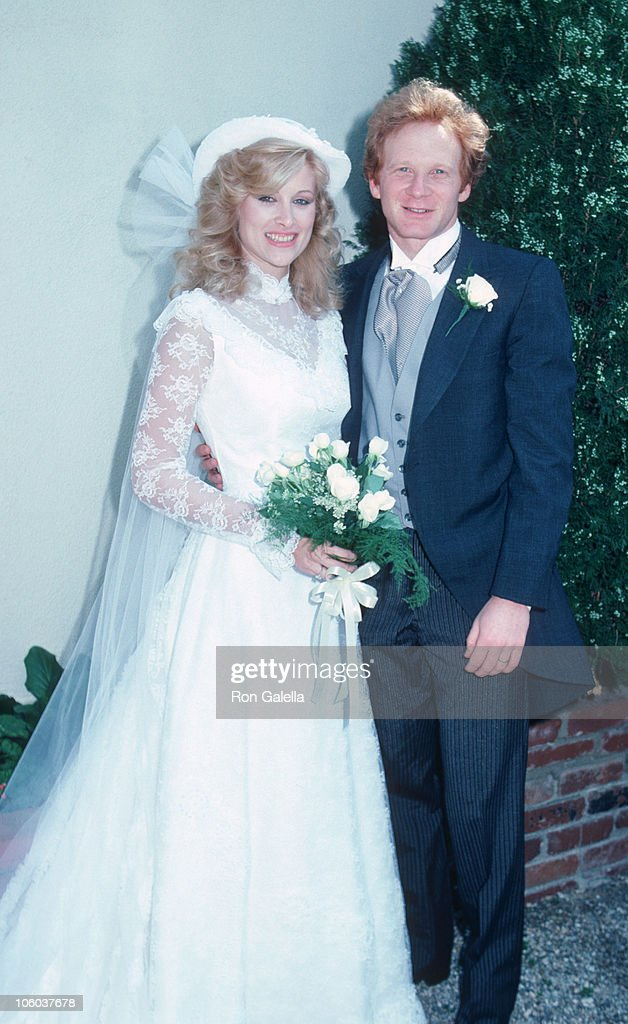 Morgan Hart and Donny Most during Donny Most and Morgan Hart Wedding Reception - February 21, 1982 at Donny Most's Malibu Home in Malibu, California, United States.