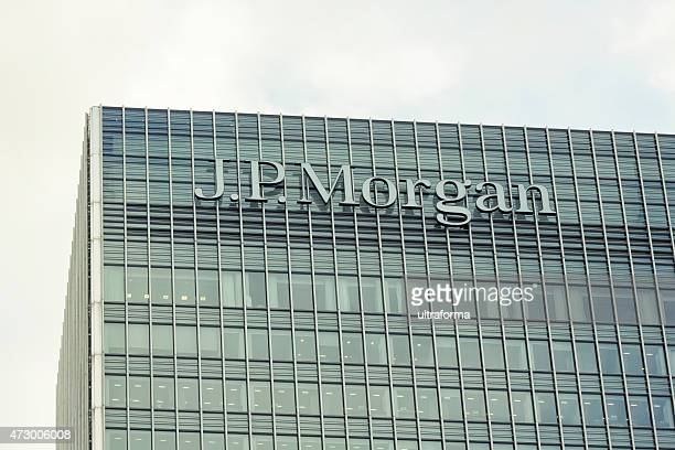 jp morgan headquarters in london - j p morgan stock pictures, royalty-free photos & images