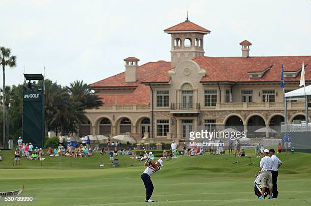 Morgan Hoffmann in action during a practice round for THE PLAYERS Championship on The Stadium Course at TPC Sawgrass on May 11 2016 in Ponte Vedra...