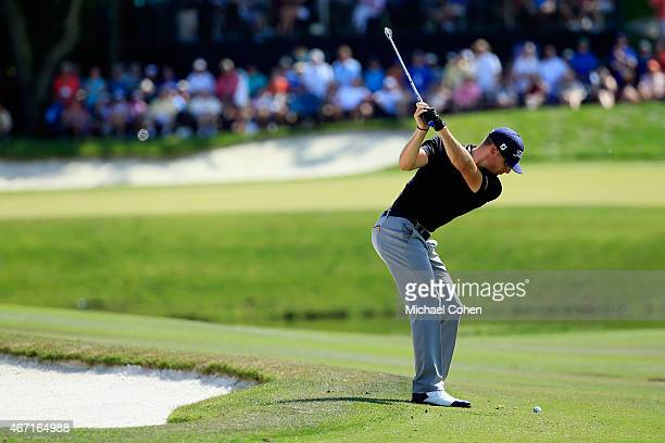 Morgan Hoffmann of the United States hits his second shot on the eighth hole during the third round of the Arnold Palmer Invitational Presented By...