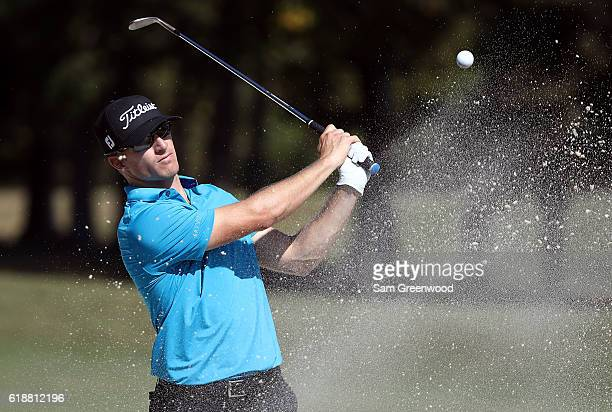 Morgan Hoffmann plays his shot on the 15th hole during the Second Round of the Sanderson Farms Championship at the Country Club of Jackson on October...