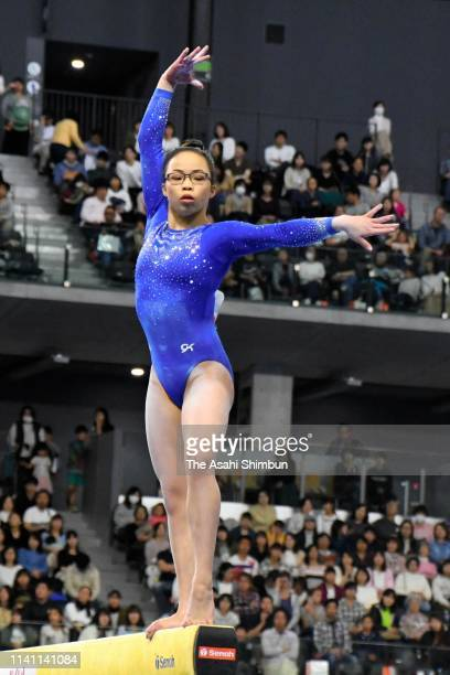 Morgan Hurd of the United States competes in the Women's Balance Beam during the FIG Artistic Gymnastics AllAround World Cup Tokyo at Musashino...