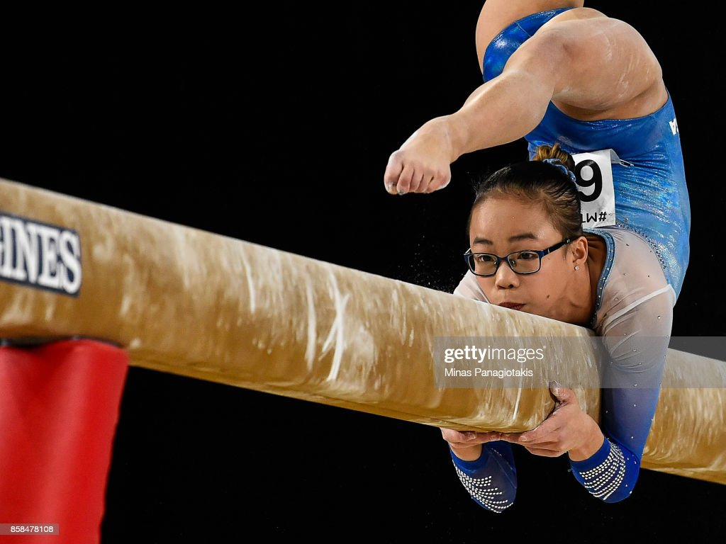 Morgan Hurd of The United States of America competes on the balance beam during the women's individual all-around final of the Artistic Gymnastics World Championships on October 6, 2017 at Olympic Stadium in Montreal, Canada.