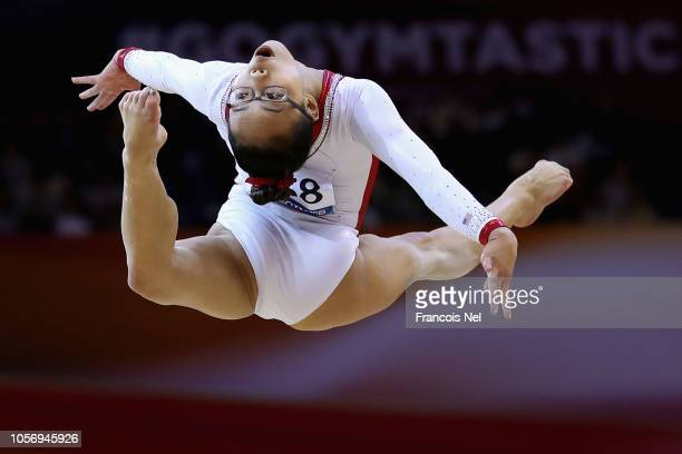 Morgan Hurd of USA competes on the Floor during day ten of the 2018 FIG Artistic Gymnastics Championships at Aspire Dome on November 3 2018 in Doha...
