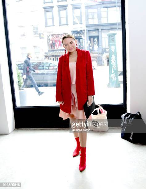 Morgan Jones attends Arianne Elmy FW18 Presentation at 151 Gallery on February 14 2018 in New York City