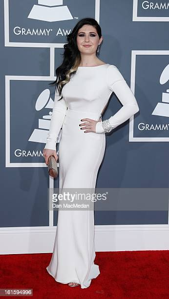 41a0af8d29b3 Morgan Kibby of  M83  arrives at the 55th Annual Grammy Awards at the  Staples
