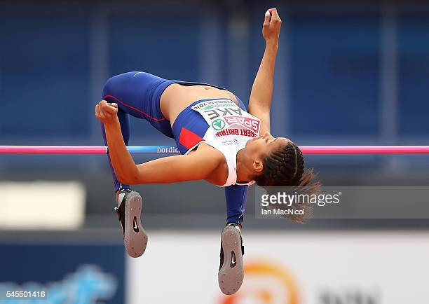 Morgan Lake of Great Briatin in action during the womens heptahlon on day three of The 23rd European Athletics Championships at Olympic Stadium on...