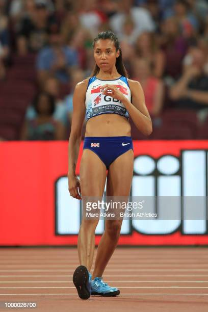 Morgan Lake of Great Britain competes in the women's high jump during Day Two of the Athletics World Cup 2018 at London Stadium on July 15 2018 in...