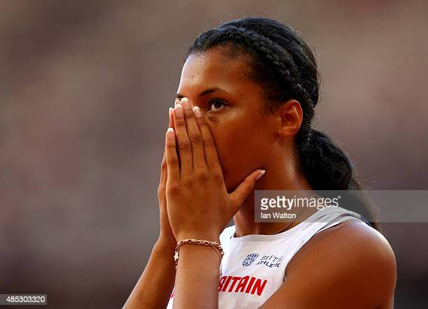 Morgan Lake of Great Britain competes in the Women's High Jump qualification during day six of the 15th IAAF World Athletics Championships Beijing...