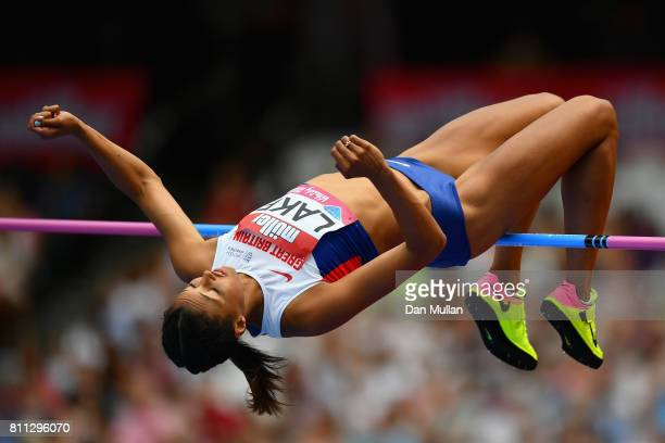 Morgan Lake of Great Britain competes in the Women's High Jump during the Muller Anniversary Games at London Stadium on July 9 2017 in London England