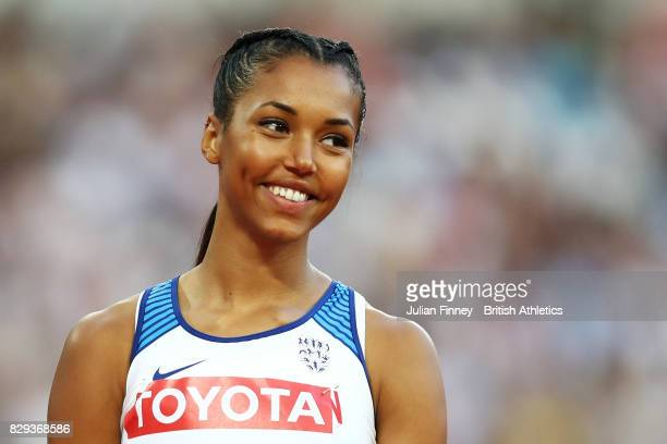 Morgan Lake of Great Britain competes in the Womens High Jump Qualifications during day seven of the 16th IAAF World Athletics Championships London...