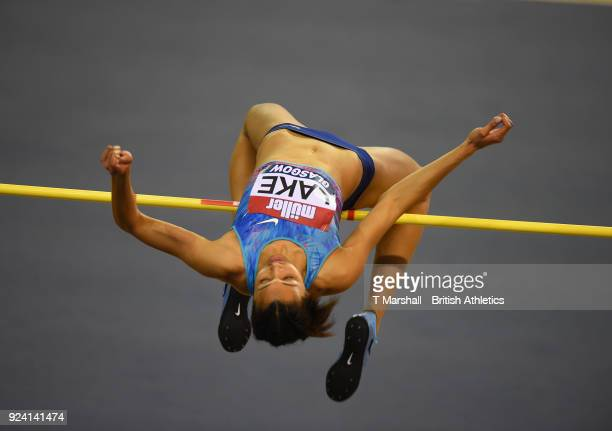 Morgan Lake of Great Britain competes in the Women's High Jump during the Muller Indoor Grand Prix event on the IAAF World Indoor Tour at the...