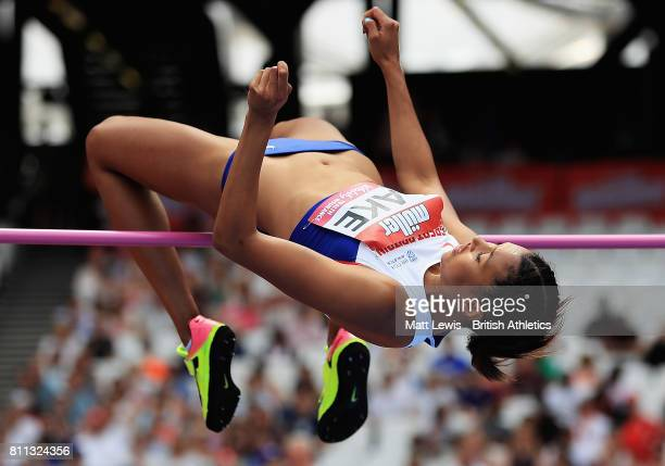 Morgan Lake of Great Britain in action during the Womens High Jump during the Muller Anniversary Games at London Stadium on July 9 2017 in London...