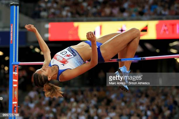 Morgan Lake of Great Britain in action during the Women's High Jump during day two of the Athletics World Cup London at the London Stadium on July 15...