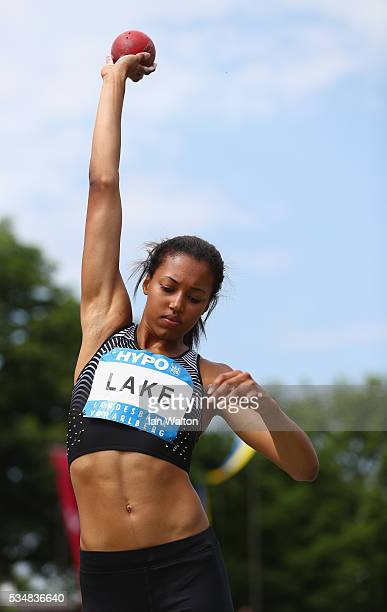 Morgan Lake of Great Britain in action in the Women's Heptathlon shot put during the Hypomeeting Gotzis 2016 at the Mosle Stadiom on May 28 2016 in...