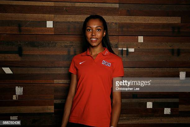 Morgan Lake poses after the Unlimited London Parade at Nike Town on July 24 2016 in London England