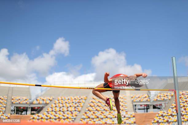 Morgan Lake trains during a Team England media opportunity ahead of the 2018 Gold Coast Commonwealth Games at Queensland Sport and Athletics Centre...