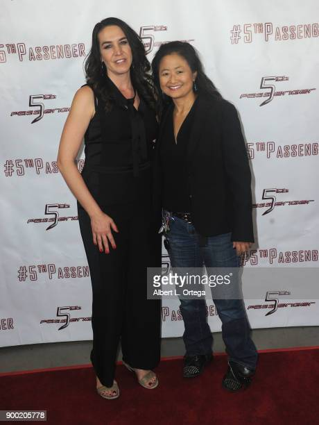 Morgan Lariah and Chuck Romero arrive for the Cast And Crew Screening Of 5th Passenger held at TCL Chinese 6 Theatres on December 13 2017 in...